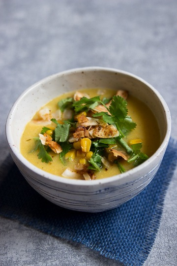Rezept Blumenkohl-Chowder mit Mais und Koriander