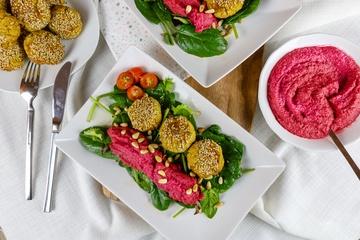 Rezept Blumenkohl-Falafel mit Rote-Bete Hummus