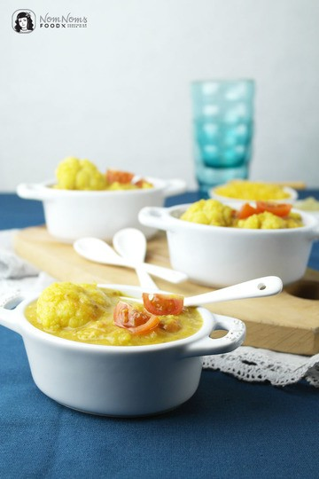 Rezept Blumenkohl-Linsen-Suppe mit Moringa