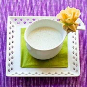 Rezept Blumenkohlcrèmesuppe mit gefülltem Crèpesäckchen
