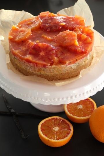 Rezept Blutorangen-Mohn-Cheesecake