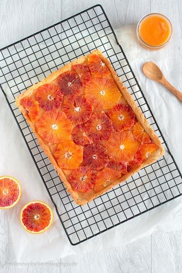 Rezept Blutorangentarte mit Orangenkaramell