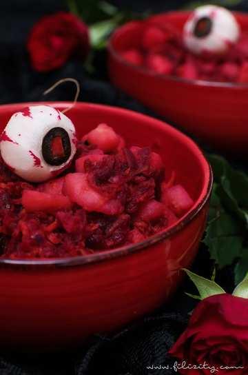 Rezept Blutroter Kartoffelsalat mit Radieschen-Augäpfeln