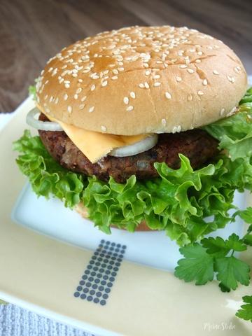 Rezept Bohnenburger, ohne viel drin und dran