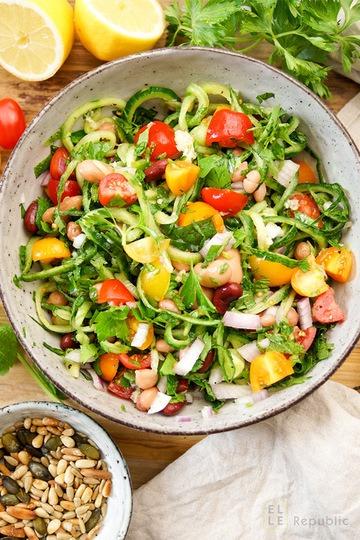 Rezept Bohnensalat mediterrane Art