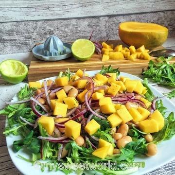 Rezept Bohnensalat mit Mango und Limette