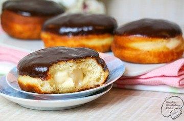 Rezept Boston Cream Donut (amerikanischer Vanillekrapfen)
