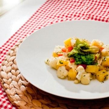 Rezept Brandade vom Seelachs mit Blumenkohl, Steckrübe und braisiertem Kopfsalat
