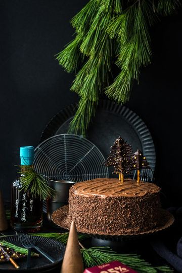 Rezept Brandy Chocolate Christmas Cake