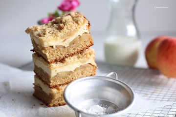 Rezept Bratapfel-Germcheesecake und Knusperstreusel