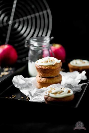 Rezept Bratapfel Marzipan Muffins