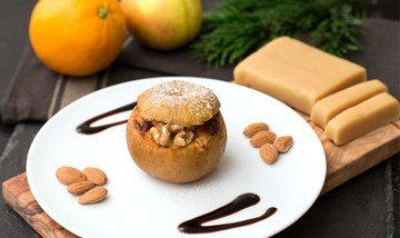 Rezept Bratapfel mit Marzipan und Orangenfüllung