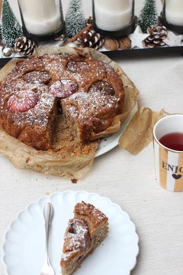 Rezept Bratapfelkuchen gefüllt mit Nüssen und Marzipan zu Weihnachten
