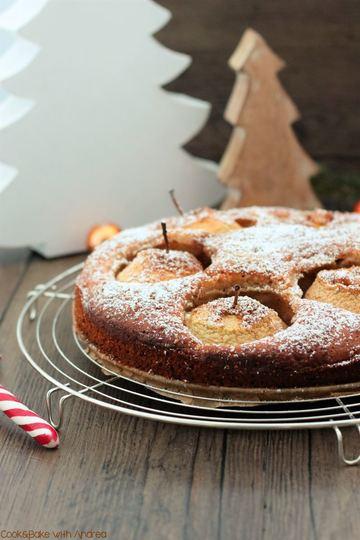 Rezept Bratapfelkuchen mit Marzipan und Gewinnspiel