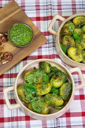 Rezept Bratkartoffeln mit Feldsalatpesto