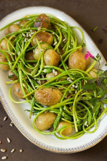 Rezept Bratkartoffelsalat mit Wildspargel