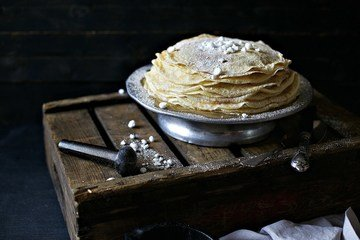 Rezept Bretonische Crêpe mit Zimt-Zucker und Baiser