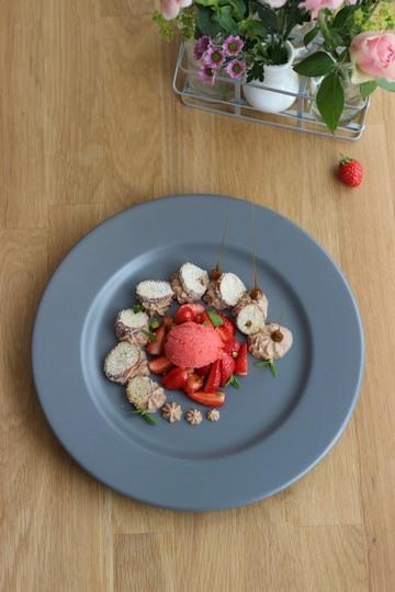 Rezept Brezel-Dessert: Schokolade – Brezel – Erdbeere