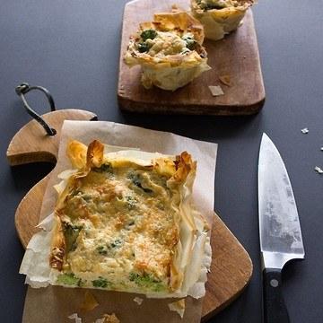 Rezept Broccoli-Sellerie-Tarte mit Comté