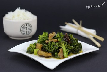 Rezept Broccoli-Shiitake-Wok mit Basmati-Reis