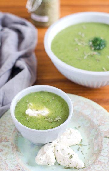 Rezept Brokkoli-Estragon Süppchen mit Nockendingenskirschen