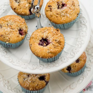 Rezept Brombeer Haselnuss Muffins