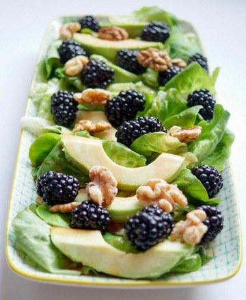 Rezept Brombeer-Salat mit Avocado