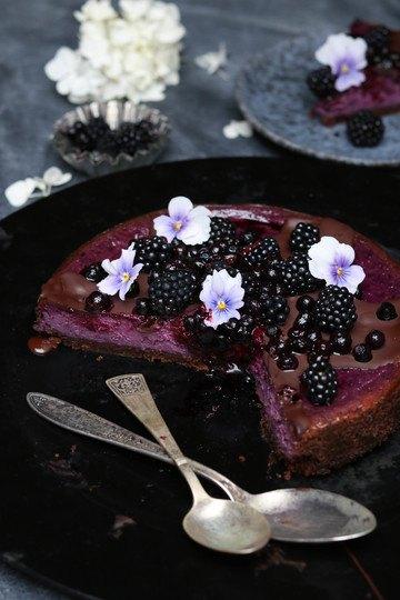 Rezept Brombeer-Schokoladen-Cheesecake