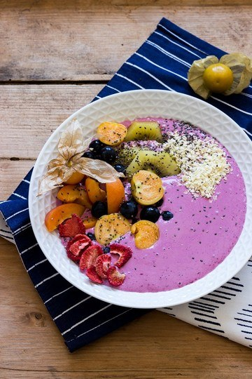 Rezept Brombeer-Smoothie-Bowl