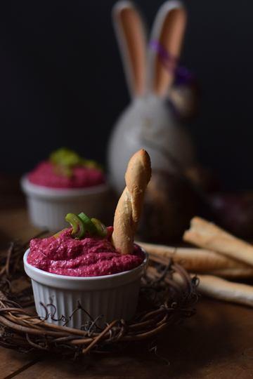 Rezept Brotaufstrich mit roter Bete und Ziegenfrischkäse