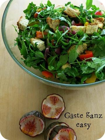 Rezept Brotsalat  mit Passionsfruchtdressing