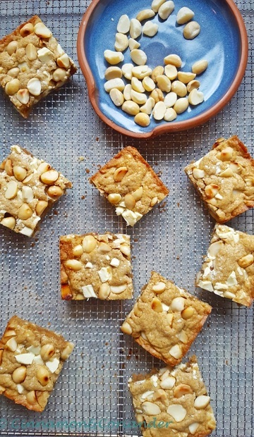 Rezept Brown Butter Macadamia Blondies