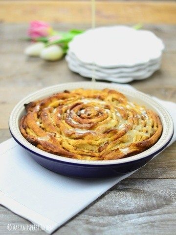 Rezept Browned Butter-Peach-Cinnamon-Pinwheel