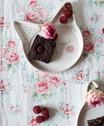 Rezept Brownie mit Himbeeren