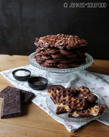 Rezept Brownie-Waffeln mit Kokos-Swirl