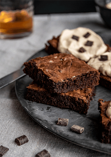 "Rezept Brownies ""Bear and the Bee"""