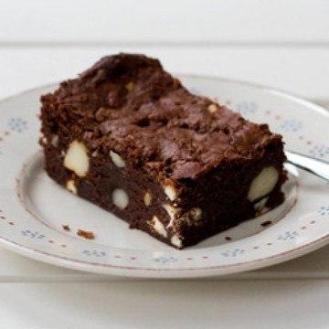 Rezept Brownies mit Macadamianuss und weißer Schokolade