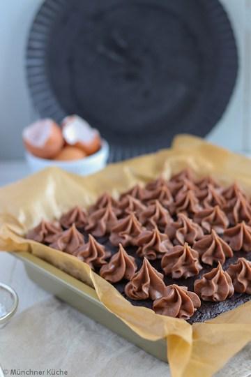 Rezept Brownies mit Roter Bete und Schokotupfen