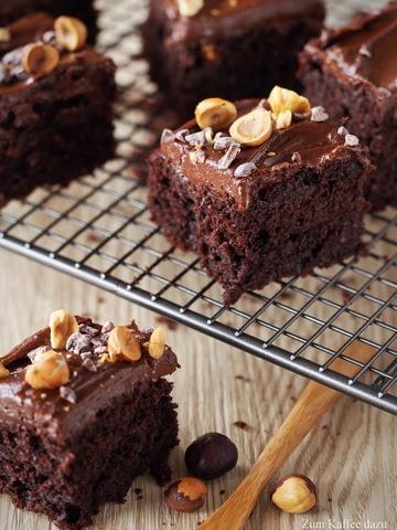 Rezept Brownies mit Schokoladen-Süßkartoffel-Frosting