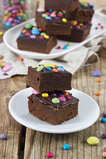 Rezept Brownies mit Smarties