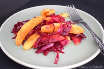 Rezept Bubenspitzle mit rotem Sauerkraut