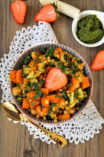 Rezept Buchweizen Bärlauch Gemüse Bowl