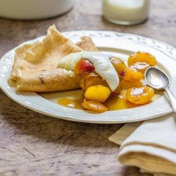 Rezept Buchweizenpfannkuchen mit Mirabellenkompott