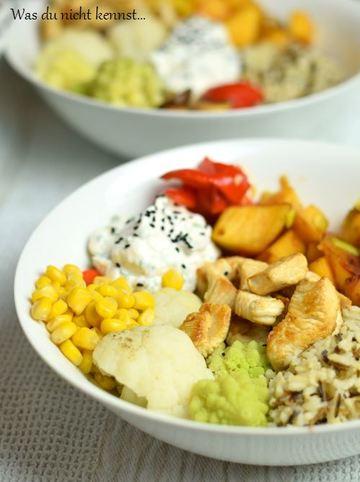 Rezept Buddha Bowl mit Reis und Romanesco