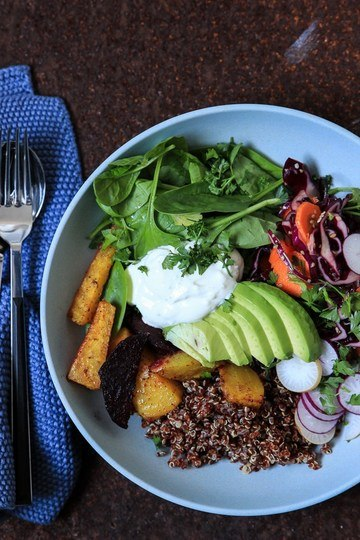 Rezept Buddha Bowl mit Rote Bete, Quinoa und Avocado