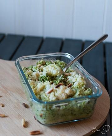 Rezept Bulgur Blumenkohl mit Avocado Pesto