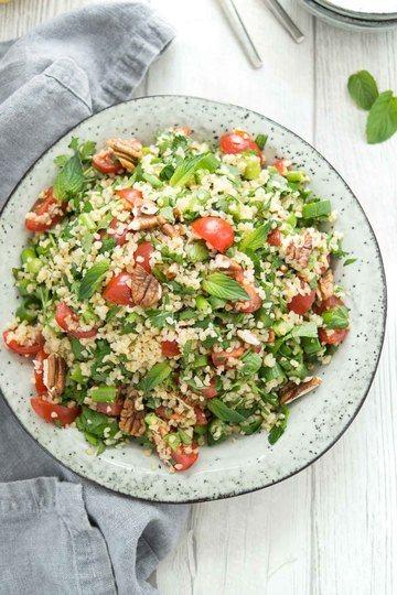 Rezept Bulgur-Salat mit frischen Kräutern und Zitrone