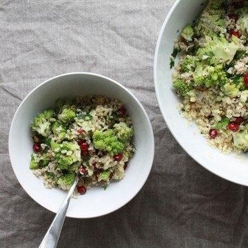 Rezept Bulgur Salat mit Romaneso und einem Za'atar-Dressing