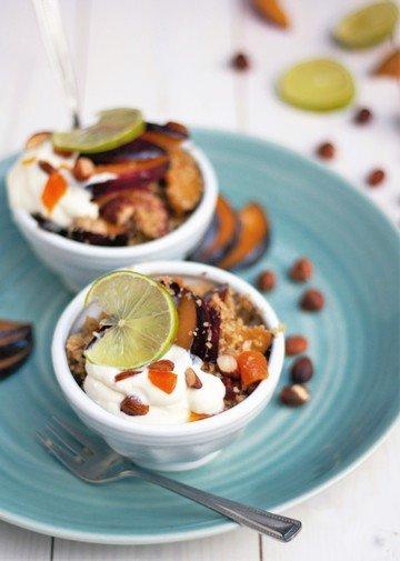 Rezept Bulgursalat mit Zwetschgen, Zimt, Aprikosen und Nüssen