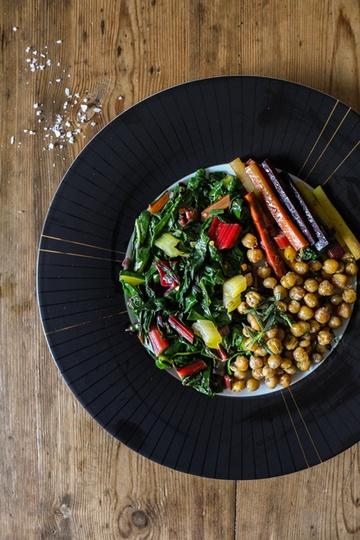 Rezept Bunter Mangold mit Karotten und Kichererbsen